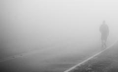 Heading Nowhere (_Moliveira) Tags: street urban bw fog haze foggy