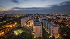 Singapore Heartlands @ Ang Mo Kio, Singapore (gintks) Tags: sunrise singapore bluehour hdb neighbourhood singapur angmokio housingdevelopmentboard publichousingestate exploresingapore singaporetourismboard yoursingapore gintks gintaygintks