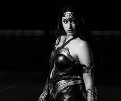 Wonder Woman BW (SlickSnap Steve) Tags: portrait people blackandwhite bw game monochrome portraits movie nikon comic cosplay steve d750 beckett comicon actionhero 2016 mcmcomicon