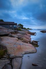sauna on the rocks (SeALighT!) Tags: sea clouds suomi finland island rocks finnland sauna land