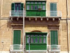 Malta's town houses and typical facades (jackfre2) Tags: wood houses windows buildings island mediterranean facades malta limestone balconies townhouses gozo sliema mdina stjulian naxxar loggias lavaletta