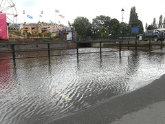 Watery parking spaces (bryanilona) Tags: parking worcestershire funfair spaces flooded canalbasin stourportonsevern