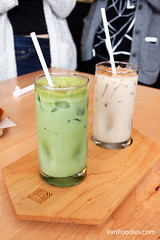 Iced Matcha Latte & Chai Latte (VanFoodies) Tags: coffee vancouver cafe tea espresso latte sandwiches macchiato cambiestreet coldbrew matchalatte espressomacchiato breakfastsandwiches charcuterieboard portocafe