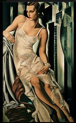 Retrato Madame Allan Bott, 1930 // by Tamara de Lempicka (mike catalonian) Tags: portrait female painting 1930s fulllength poland artdeco 1930 tamaradelempicka