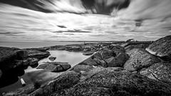 Sunday trip (JH') Tags: nikon nikond5300 nature d5300 landscape rocks ocean coast summer sky clouds longexposure exposure sigma 1020 blackandwhite water