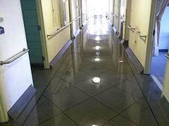 Epoxy Tile Hallway (Decorative Concrete Kingdom) Tags: tile border flake hallway epoxy chip