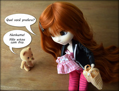Which of these do you prefer? / Neither! I'm not cold. (gomides1) Tags: pullip urso bear
