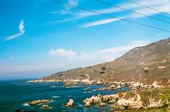 45460017 (danimyths) Tags: ocean california mountains film beach water landscape coast waterfront pacific roadtrip pch pacificocean westcoast californiacoast filmphotography pacificcostalhighway