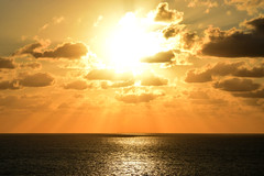 Nova (ChristopherSmith.Photo) Tags: ocean light sea sun sol beach water sunshine contrast dark golden coast skies bright florida god horizon explosion scenic atlantic rays washed sunrays majestic