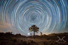Midnight Explorer Finding Joshua Tree (Mike Ver Sprill - Milky Way Mike) Tags: wall street mill joshua tree national park california cali abandoned star trail trails mv milky way mike michael ver sprill versprill stars rocks long exposure night sky barkers dam mine mining landscape cosmos galaxy universe amazing beautiful stacked june 2016 nikon d600 14mm samyang rokinon starstax stax urbex sand midnight explorer startrails vortex spiral gary fong strobist strobe selfie self portrait