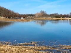 Sunken Meadow Creek with the old LILCO smokestacks at the Northport Power Plant (Matt McGrath Photography) Tags: newyork unitedstates longisland northshore kingspark longislandsound northport lilco sunkenmeadowstatepark sunkenmeadowcreek