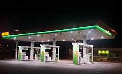 gas station by night (otoxunghe) Tags: italy station sign price night energy europe tank diesel euro empty cost gas number pump oil petrol gasoline rise expensive refinery premium fuel liter fill unleaded petroleum gallon opec expense costing