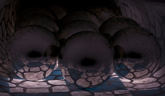 Boules et craquelures - 10 (Spock2029) Tags: blue white reflection metal ball bleu blanc cracked mtal boule craquelure rflexion