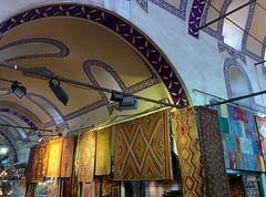 Carpets merchant at the Grand Bazaar (Pino Pinto) Tags: mobile turkey phone market istanbul bazaar turchia kapalar