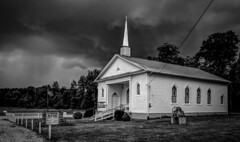 Church in Storm_BW (Bob G. Bell) Tags: storm church weather kentucky fujifilm thunderstorm baptistchurch countrychurch nelsoncounty bobbell xpro1 unionband howardstown
