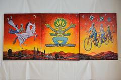 Entre ciel et terre (Yvelise BALLU) Tags: 20160625 expostions lieux manifestations nouvellesmtamorphoses orangerielamothesainthray