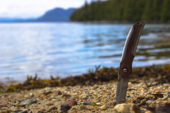 Knife on the Beach (Antoine Grelin) Tags: knife canon photography t3i 600d 50mm beach alaska usa colors water sea sky pocket sand rocks lightroom photographie vacation