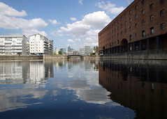 Wapping Dock (.annajane) Tags: uk england reflection water liverpool dock waterfront wapping merseyside wappingwarehouse
