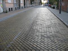 Novi Sad-Podbara - Yellow Clinker Brick Road (Neotalax) Tags: street serbia novisad vojvodina clinker brickroad klinker clinkerbrick podbara