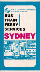 Bus Train Ferry Services Sydney brochure - c1976 (issued by the Public Transport Commission of New South Wales) (davemail66) Tags: new bus public by ferry wales train south transport sydney nsw brochure commission services ptc c1976
