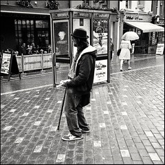 Olympus mju kodacolour 200 (The left eye photographer) Tags: olympusmju man kodak200 corkcity film 35mm streetphotography epsonv500