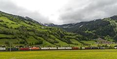 1433_2016_05_24_sterreich_Dorfgastein_LM_6189_907_&_MRCE_dispolok_ES_64_F4_-_027_DISPO_6189_927_mit_ekol_KV_Villach (ruhrpott.sprinter) Tags: railroad schnee salzburg train germany logo deutschland graffiti austria ic sterreich diesel natur wiese eisenbahn rail zug cargo 64 berge nrw passenger es lm blume fret ore gelsenkirchen ruhrgebiet f4 freight bb badgastein locomotives 189 lokomotive amtc cityshuttle sprinter badhofgastein ruhrpott gter 1144 dorfgastein ekol 1116 dispo europischer 6189 mrce tauernbahn lokomotion reisezug rpool dispolok nordrampe ellok cargoserv logserv intercombi lokfhrerschein gastainertal rocktainer