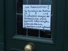 Die Nachbarn sind informiert (mkorsakov) Tags: door city flyer wtf typo tr mnster zettel innenstadt hinweis kreuzviertel verbot gebot wachsamenachbarn