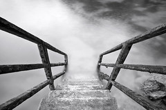 Steps into Newquay Harbor (Shockin Goblin) Tags: longexposure water mono harbor cornwall steps calm descend milky kernpow