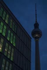 Berlino per caso (VALERIA MORRONE  ) Tags: night germany deutschland nikon europa europe torre fernsehturm valeria mitte antenna germania notturno televisione d60 morrone