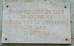 Bombardement de Paris 20 Janvier 1918 plaque - 60 boulevard Saint Michel, Paris 6th arr (Monceau) Tags: paris plaque combat bombardment 1918 liberationofparis librationdeparis 25aot1944 60boulevardsaintmichel openplaques:id=41433