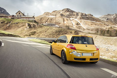 Renault Mgane RS R26 F1 Team (Jpog photographie) Tags: summer mountain france alps ford st montagne alpes french lotus sunny roadtrip renault sirius t rs caterham izoard r300 cayolle