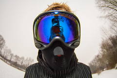 Boarder (flamboyance design) Tags: winter snow forest glasses colours mask flash goggles gear shades full fisheye tokina frame protection snowboarder dressed selfie vermummt 1017mm