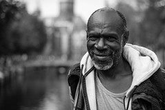 Street happiness (Pan) Tags: street city portrait smile amsterdam 50mm nikon dof candid capital stranger 18 d600