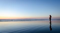 Oreti Beach reflections (Kathrin & Stefan) Tags: ocean sunset newzealand sky reflection beach nature sand outdoor southisland tasmansea nzl invercargill foveauxstrait oretibeach kathrinmarks