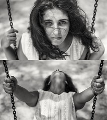 """""""And I plan to be forgotten when I'm gone. Yes I'll be leaving in the fall"""" (Davide Carovana) Tags: summer blackandwhite italy love girl photography photo friend memories sicily potrait"""