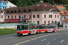 2015-05-12, Praha, Chotkova (Fototak) Tags: tram praha czechrepublic strassenbahn t6 tatra ligne12 8735 8734