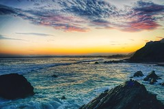 Over (FlavioSarescia) Tags: ocean africa travel sunset sea summer sun sunlight mountain fish nature water sunshine landscape southafrica fisherman waves sundown walk wave fisher hss
