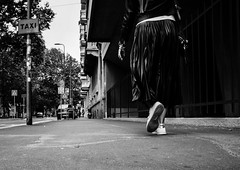 Taxi! (DanieleS.) Tags: photo photography shot wow amazing cool great good dannyboy ilovedannyboy daniele salutari milano milan walking black white bianco nero fotografia di strada street girl urban city spring 2016 taxi stan smith adidas gucci bag dress life