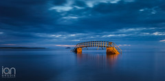Bridge to Nowhere (ianbrodie1) Tags: bridge nowhere belhaven bay dunbar scotland landmark water long exposure longexposure nikon d750 sea seascape bass rock car lights isle may