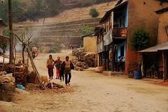 Nepal Village (isabel.braeuer) Tags: travel nepal rural trekking children countryside village social adventure explore journey environment himalaya