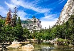 Yosemity National Park (MaybeSomeday.CA) Tags: california park family usa lake mountains reflection nature beauty stone forest swim climb paradise peace mirrorlake hike yosemite elcapitan