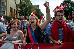 Danielle Simonnet (dprezat) Tags: street people paris nikon contest protest politique manifestation opposition d800 simonnet syndicat nikond800 frontdegauche loitravail elkohmri