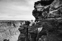 Somewhere past the end of the world (pakhouse@att.net) Tags: blackandwhite solitude canyonlands travelphotography utahlandscape desertvista