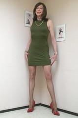 A figure hugging dress. (sabine57) Tags: crossdressing transvestism crossdress crossdresser cd tgirl tranny transgender transvestite tv travestie drag pumps highheels pantyhose tights dress tightdress corset