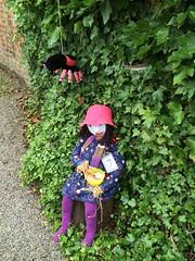 Little Miss Muffett (Munki Munki) Tags: nurseryrhyme tuffet nyorks littlemissmuffett appletonwiske scarecrowfestival2016 bighorriblespider nicepurpletights