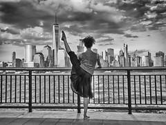 Storm Warning (Narratography by APJ) Tags: nyc newyorkcity sky tower beautiful skyline clouds skyscraper freedom dance nj dancer apj narratography