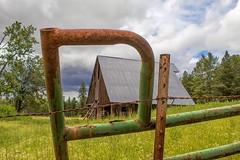 Barn and Rusty Frame (jim.choate59) Tags: barn fence rust conboynationalwildliferefuge jchoate