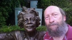 Arnold Einstein and my own self (twm1340) Tags: sculpture statue shopping bench albert einstein sedona az center tlaquepaque