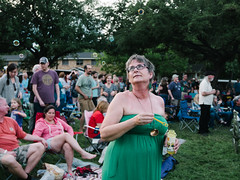 Bubbles (Zack Huggins) Tags: panasoniclumixlx100 vscofilm pack01 dentontx artsjazzfestival bubbles candid stranger blowingbubbles crowd audience festival musicfestival grounds portrait bokeh availablelight evening lady pointandshoot compact digitalcompact advancedcompact 43 bravecombo microfourthirds
