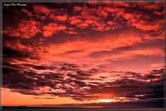 Sunrise Oil (N E Pic's) Tags: red sea clouds sunrise headland hartlepool